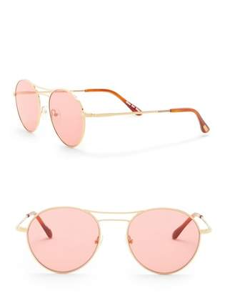 Toms Melrose 52mm Round Sunglasses
