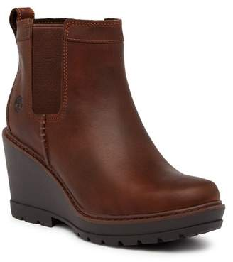 Timberland Kellis Double Gore Chelsea Leather Wedge Boot