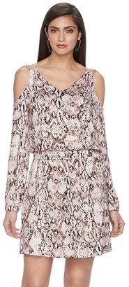 Women's Jennifer Lopez Cold-Shoulder Shift Dress $58 thestylecure.com