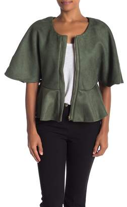 CQ by CQ Faux Suede Dolman Sleeve Jacket
