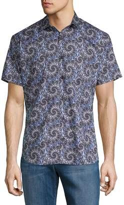 Jared Lang Men's Printed Short-Sleeve Button-Down Shirt