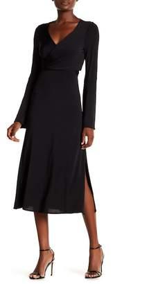 Cinq à Sept Lourdes Bell Sleeve Side Slit Dress