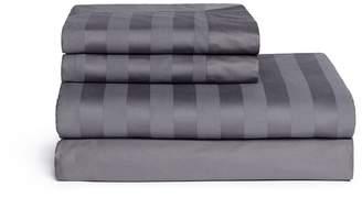Lane Crawford Stripe duvet set - Charcoal