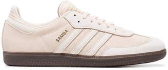 adidas nude Samba suede sneakers
