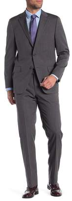 Hickey Freeman Solid Classic Fit Wool Suit