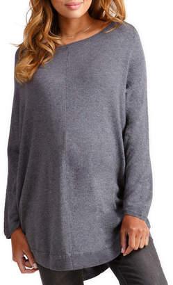 Ingrid & Isabel Maternity Long-Sleeve Batwing Poncho Sweater
