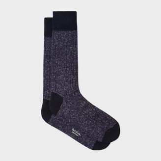 Men's Navy Glittered Socks $30 thestylecure.com