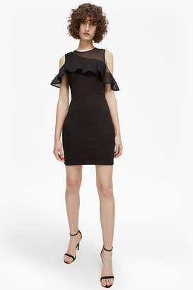 French Connection Lore Lula Ponte Cold Shoulder Dress