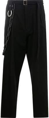 Miharayasuhiro chain detail belted trousers