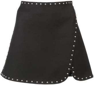 Helmut Lang stud detail mini skirt