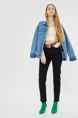 Topshop TALL Raw Hem Straight Jeans
