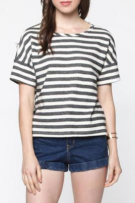 Everly Stripe Tee Top $36 thestylecure.com