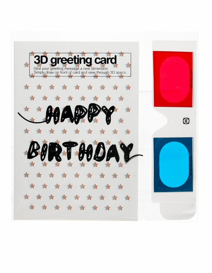 Asos 3D Happy Birthday Greeting Card