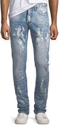 PRPS Men's Le Sabre Bleached Stain Tapered Jeans