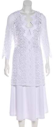 Miguelina Sheer Lace Tunic w/ Tags