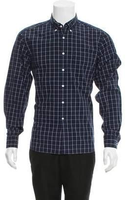 Shipley & Halmos Windowpane Button-Up Shirt