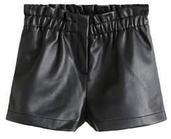 MANGO Faux leather shorts
