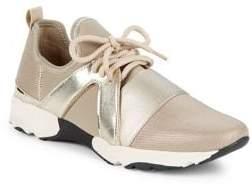 Carvela Lamar Metallic Combo Knit Sneakers