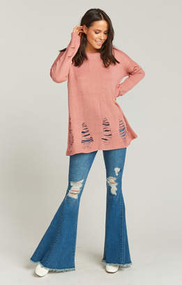 Show Me Your Mumu Tamaya Sweater ~ Mulberry Ripped Knit