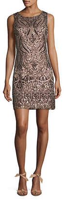 Vince Camuto Sequined Sleeveless Sheath Dress
