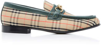 Burberry Moorley Check-Printed Loafers