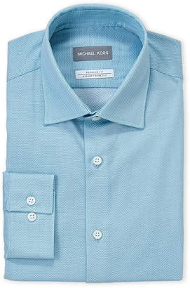 Michael Kors Azure Geo Regular Fit Non-Iron Dress Shirt