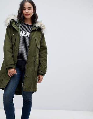 Asos Oversized Parka With Padded Liner