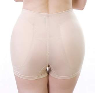 Abusun Women's Fake Hip Panties Smooth Surface False Buttock Padded Underpants Breathable Control Panties (4XL, )