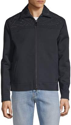Valentino Men's Long-Sleeve Studded Jacket