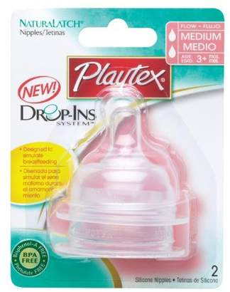 Playtex Nurser Naturalatch Silicone Nipples 3m+