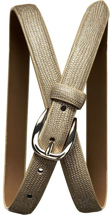 Banana Republic Shiny lizard belt