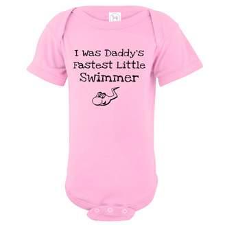 U.S. Custom Tees U.S. Custom Kids I Was Daddy's Fastest Little Swimmer Baby Onesie