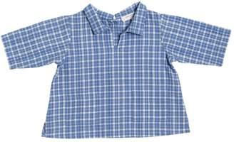 Caramel Baby And Child Plaid Cotton Garza Shirt