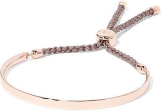 Monica Vinader Fiji Rose Gold Vermeil And Woven Bracelet - one size
