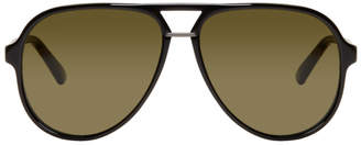 Gucci Black Pilot Aviator Sunglasses
