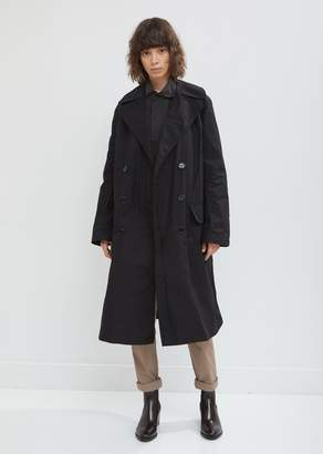 Mhl By Margaret Howell Patch Pocket Waxed Trench Coat