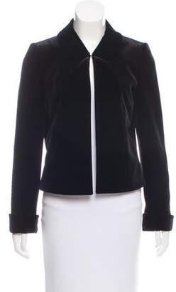 Tahari Arthur S. Levine Velvet Fitted Jacket