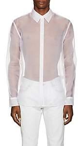 Helmut Lang Men's Logo Silk Organza Shirt - White