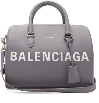 Balenciaga Ville grained-leather bowling bag