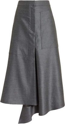 Tibi High Waist Draped Skirt