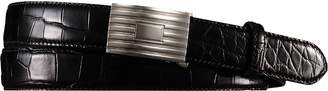 Ralph Lauren Alligator Engine-Buckle Belt