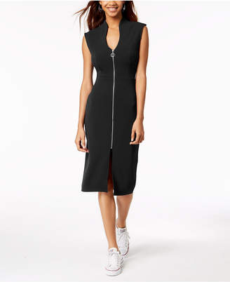 Almost Famous Juniors' Zip-Front Midi Dress
