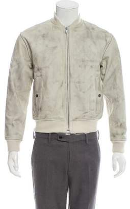 Marc by Marc Jacobs Distressed Leather Bomber Jacket w/ Tags