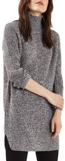Women's Topshop Grunge Funnel Neck Sweater Dress