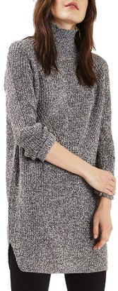 Women's Topshop Grunge Funnel Neck Sweater Dress $75 thestylecure.com