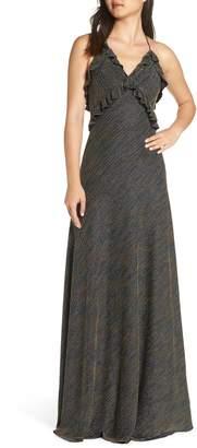 Jill Stuart Marjan Metallic Knit Gown