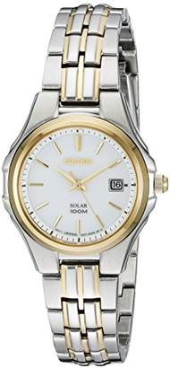 Seiko Women's SUT222 Ladies Dress Solar-Powered Two-Tone Stainless Steel Watch $169 thestylecure.com