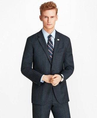 Brooks Brothers Milano Fit Open Plaid 1818 Suit