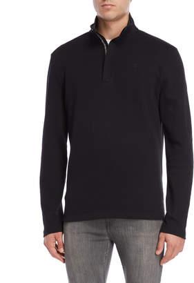 DKNY Knit Twill Quarter-Zip Pullover