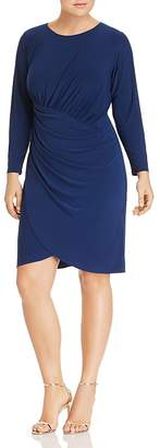 Adrianna Papell Plus Draped Jersey Dress